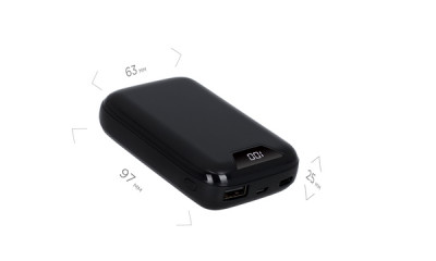 powerbank ERGO LP-С12 - 10000 mAh Li-pol TYPE-C (Black)