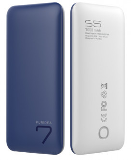 powerbank PURIDEA S5 7000mAh Li-Pol Rubber Blue & White