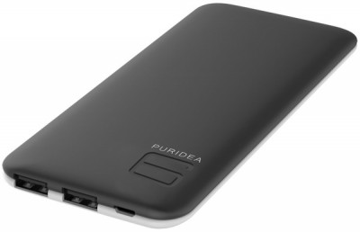 powerbank PURIDEA S4 6000mAh Li-Pol Rubber Black White